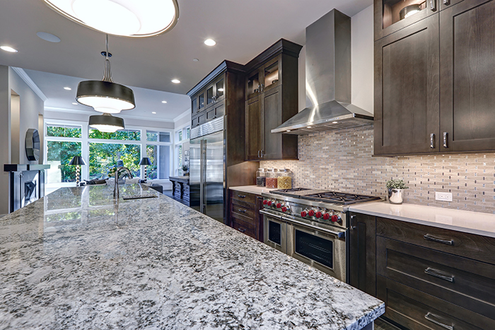 granite tile gas and with lake salt electric countertops ranges steel countertop city stainless simple traditional